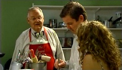 Harold Bishop, David Bishop, Serena Bishop in Neighbours Episode 4751