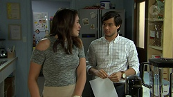 Paige Novak, David Tanaka in Neighbours Episode 7529