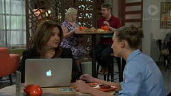 Terese Willis, Sheila Canning, Gary Canning, Piper Willis in Neighbours Episode 7530