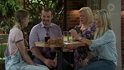 Willow Somers (posing as Willow Bliss), Toadie Rebecchi, Sheila Canning, Andrea Somers (posing as Dee) in Neighbours Episode 7530