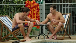 Tyler Brennan, Aaron Brennan in Neighbours Episode 7530