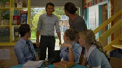 Ben Kirk, Leo Tanaka, Tyler Brennan, Piper Willis, Xanthe Canning in Neighbours Episode 7530