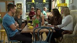 Mark Brennan, Steph Scully, Josie Lamb, Victoria Lamb, Ellen Crabb in Neighbours Episode 7531