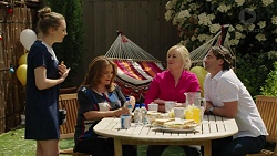 Piper Willis, Terese Willis, Lauren Turner, Brad Willis in Neighbours Episode 7532