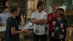 David Tanaka, Piper Willis, Brad Willis, Lauren Turner, Terese Willis in Neighbours Episode 7532