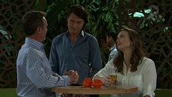 Paul Robinson, Leo Tanaka, Amy Williams in Neighbours Episode 7533