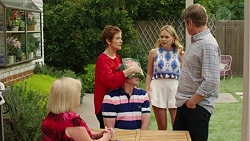 Sheila Canning, Susan Kennedy, Karl Kennedy, Xanthe Canning, Gary Canning in Neighbours Episode 7535