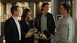 Paul Robinson, Amy Williams, Leo Tanaka, Jack Callaghan in Neighbours Episode 7538