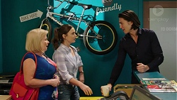 Sheila Canning, Amy Williams, Leo Tanaka in Neighbours Episode 7538