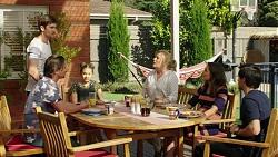 Brad Willis, Ned Willis, Piper Willis, Lauren Turner, Paige Smith, David Tanaka in Neighbours Episode 7539
