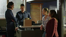 Leo Tanaka, Mark Brennan, Amy Williams, Terese Willis in Neighbours Episode 7539