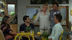 Paige Smith, David Tanaka, Lauren Turner, Brad Willis, Jack Callahan in Neighbours Episode 7540