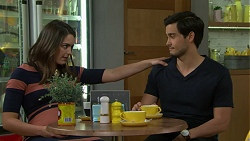 Paige Novak, David Tanaka in Neighbours Episode 7540