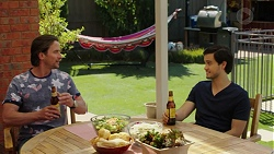 Brad Willis, David Tanaka in Neighbours Episode 7540