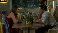 Paige Novak, David Tanaka in Neighbours Episode 7541