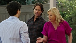 David Tanaka, Brad Willis, Lauren Turner in Neighbours Episode 7542