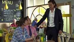 Amy Williams, Aaron Brennan, Leo Tanaka in Neighbours Episode 7544