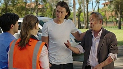 David Tanaka, Amy Williams, Leo Tanaka, Bradley Satchwell in Neighbours Episode 7544