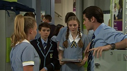 Xanthe Canning, Jimmy Williams, Willow Bliss, Ben Kirk in Neighbours Episode 7546