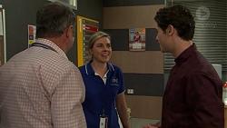 Karl Kennedy, Sandra Kriptic, Ben Kirk in Neighbours Episode 7549