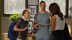 Piper Willis, Tyler Brennan, Elly Conway in Neighbours Episode 7550