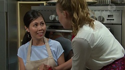 Margie Chan, Xanthe Canning in Neighbours Episode 7550