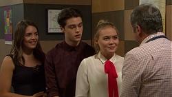 Paige Novak, Ben Kirk, Piper Willis, Karl Kennedy in Neighbours Episode 7550