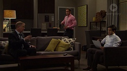 Clive Gibbons, Aaron Brennan, David Tanaka in Neighbours Episode 7554