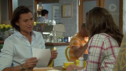 Leo Tanaka, Amy Williams in Neighbours Episode 7555