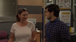 Amy Williams, David Tanaka in Neighbours Episode 7558
