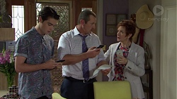 Ben Kirk, Toadie Rebecchi, Susan Kennedy in Neighbours Episode 7558
