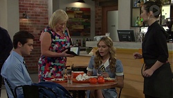 Ben Kirk, Sheila Canning, Xanthe Canning, Sabra Dumas in Neighbours Episode 7559