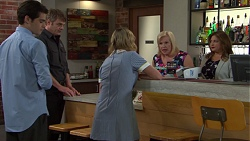 Ben Kirk, Gary Canning, Xanthe Canning, Sheila Canning, Terese Willis in Neighbours Episode 7559