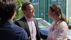 David Tanaka, Paul Robinson, Amy Williams in Neighbours Episode 7560