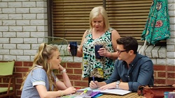 Xanthe Canning, Sheila Canning, Finn Kelly in Neighbours Episode 7565