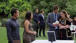 Jack Callahan, Paige Smith, Tyler Brennan, Aaron Brennan, Mark Brennan, Sonya Rebecchi in Neighbours Episode 7567