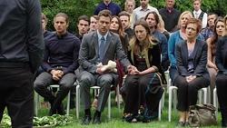 Tyler Brennan, Mark Brennan, Sonya Rebecchi, Susan Kennedy, Brad Willis, Lauren Turner, Paige Smith, Ben Kirk, Elly Conwa in Neighbours Episode 7567