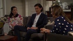 Kim Taylor, Leo Tanaka, Amy Williams in Neighbours Episode 7569