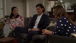 Kim Tanaka, Leo Tanaka, Amy Williams in Neighbours Episode 7569