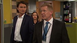 Leo Tanaka, Amy Williams, Clive Gibbons in Neighbours Episode 7569