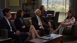 Leo Tanaka, Jasmine Udagawa, Mr Udagawa, Amy Williams, Kim Tanaka in Neighbours Episode 7569