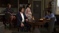 Amy Williams, Leo Tanaka, Kim Taylor, David Tanaka in Neighbours Episode 7569
