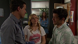 Dr Rob Carson, Xanthe Canning, Finn Kelly in Neighbours Episode 7571