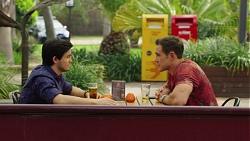 David Tanaka, Aaron Brennan in Neighbours Episode 7571