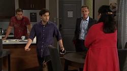 Aaron Brennan, David Tanaka, Paul Robinson, Kim Taylor in Neighbours Episode 7571