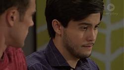Aaron Brennan, David Tanaka in Neighbours Episode 7571