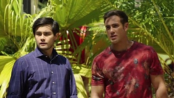 David Tanaka, Aaron Brennan in Neighbours Episode 7572