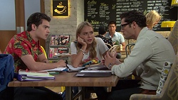 Ben Kirk, Xanthe Canning, Finn Kelly in Neighbours Episode 7572