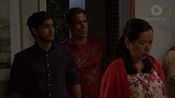 David Tanaka, Aaron Brennan, Kim Taylor in Neighbours Episode 7572