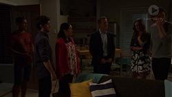 Aaron Brennan, David Tanaka, Kim Tanaka, Paul Robinson, Amy Williams, Leo Tanaka in Neighbours Episode 7573